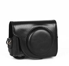 Hülle Tasche Etui Leder für Canon G9X schwarz