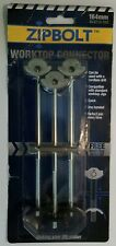 3 x Zipbolt Worktop Connectors 164mm Plus FREE 5mm Hex Drive Bit BLQT10.700