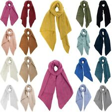 XXL Damen Winterschal Boucle modisch Schal weich meliert warm strick Blogger 17