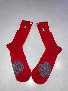 Nike Elite NBA Authentics Red/White Crew Socks Size XXL NWT PSX699-657