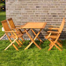 Mobili da giardino, tavolo con 4 sedie  legno