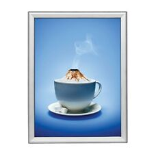 """18"""" x 24"""" Snap Frame, 1.25"""" Profile, Safe Round Corners, Wall Mounted - Silver"""