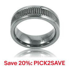 8mm Titanium Mesh Inlay Wedding Band (Size 8-12 1/2), 20% off: PICK2SAVE