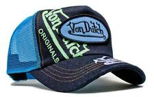 Authentic Brand New Von Dutch Denim Signature Painted Cap Hat Mesh Snapback