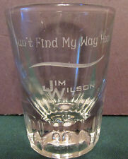 RARE    JIM WILSON    CAN'T FIND MY WAY HOME   SHOT GLASS