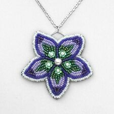Bead Embroidered Flower Pendant BEADING INSTRUCTIONS - Suitable for beginners!