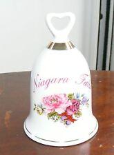 Niagra Falls Porcelain Rose Decorative Bell Souvenir