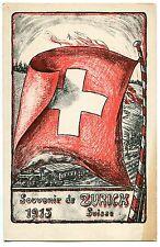 CARTE POSTALE SUISSE SOUVENIR DE ZURICK 1915