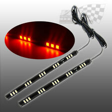 2 x SMD/LED ORANGE FLEXABLE INDICATOR SIDE RUNNING STRIP LIGHT DRL VAN CAMPER