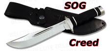 S.O.G. SOG Creed Satin Finish w/ Leather Sheath CD01-L