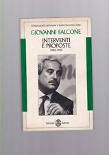 Giovanni Falcone - Interventi e proposte (1982-1992) - Sansoni 1994 R