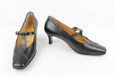 VINTAGE Zapatos Ahora GIOIELLO En Piel Negro T 36 MUY BUEN ESTADO