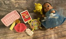 Mattel Barbie Doll BABY CRISSY DOLL and Accessories Food Bottles toys +