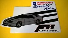 F1 Camaro  sticker GM Specialty vehicle sticker - New old stock decal
