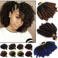 "100% Thick Wand Curly 6"" Short Bounce Jumpy Crochet Braiding Braids Hair Ombre"