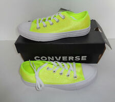 CONVERSE All Star Glitter Ladies Yellow New Casual Lace Shoes Trainers UK Size 5