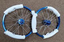 "Old School Style 20 "" Bike Wheels Wheelset in Blue Ano BMX Freestyle Sealed Hub"