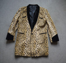 Vintage 1980s Faux Leopard Skin Print Teddy Boy Drape Jacket