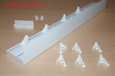 PVC Curtain Ceiling Rail Track + cover LONG 2,1m 4,2m 6,3m FAST DELIVERY