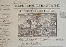 Grand passeport à l'étranger avec superbe vignette gravée par Duplat.
