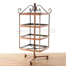 Retro Metal Rotating Jewellery Display Stand Earring Necklace Hook Holder Hanger