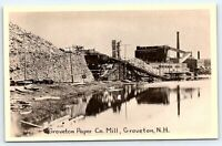 RPPC postcard Groveton Paper Co. Mill, Groveton, N.H., mill scene by water NH
