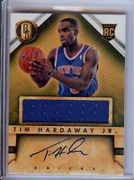 Tim Hardaway Jr. 2014-15 Panini Gold Standard RC Jersey Auto Knicks #252
