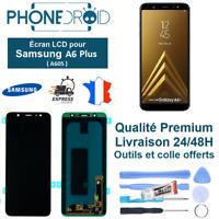 Écran complet LCD + Tactile Samsung A6 Plus 2018 Noir InCell + Outils, stock FR