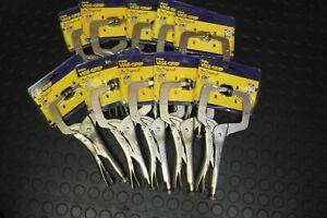 """IRWIN Vise Grip 11R 11"""" C-Clamp Locking Welding Pliers 10 PACK CLAMP Welders"""