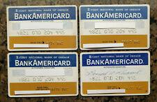 Vintage BankAmericard Credit Card  First National Bank of Oregon Exp 74 75 76 77