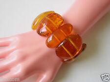 XXL breites Honig Bernstein Armband Naturbernstein 52,1 g Genuine Amber Bracelet