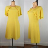 NEW Ex Dorothy Perkins Ladies Yellow Summer Tea Dress Size 6 - 16