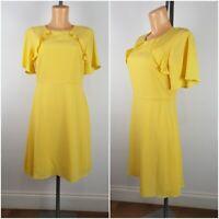 NEW Ex Dorothy Perkins Ladies Yellow Summer Tea Dress Size 6 - 16