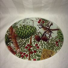 "Michel Design Works Glass Soap Dish ""Spruce""  Christmas Holiday"