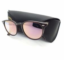 Ray Ban 4259 6231/1N Shiny Opal Brown Blue Pink Mirror Sunglasses New Authentic