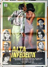 manifesto 2F film ALTA INFEDELTA' Monicelli Petri Aznavour Tognazzi Mercier 1970