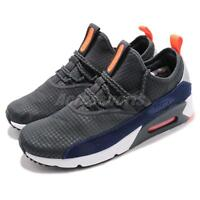 0898a71771d Nike Air Max 90 EZ Grey Orange Navy White Men Running Shoes Sneakers  AO1745-007
