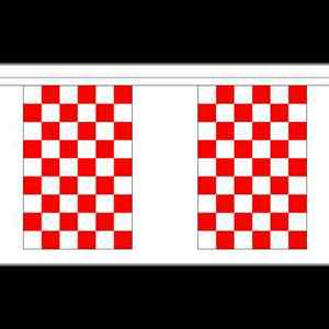 Red & White Check Bunting - 3m 6m 9m Metre Lengths Liverpool Checkered Sports
