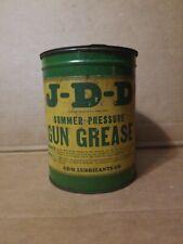 John Deere JDD Summer Gun Grease 5 Pound Oil Can Original Antique Farm Tractor