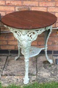 Antique 'Britannia' Cast Iron Table