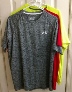 Under Armour Shirts Heat Gear Men's Large Set of 3