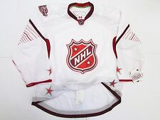 2011 NHL ALL STAR GAME WHITE TEAM ISSUED REEBOK EDGE 2.0 7287 JERSEY SIZE 58+