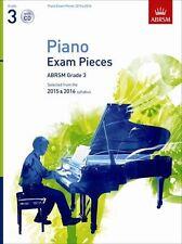 ABRSM Exam Pieces piano sélectionnés: 2015-2016 (grade 3) - Livre et CD