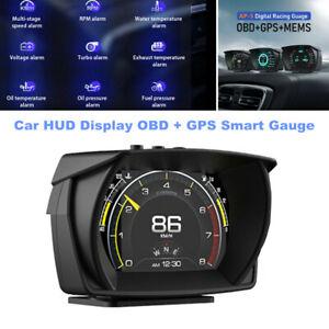 Car HUD Dual System Head Up Display Digital OBD / GPS Speedometer Smart Gauge