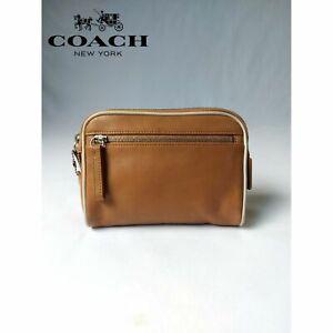 COACH MEDIUM COSMETIC POUCH CASE BAG TRAVEL VINTAGE ZIP TOP
