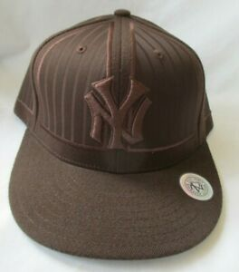 NEW YORK YANKEES AMERICAN NEEDLE COOPERSTOWN COLLECTION BROWN CAP HAT-SIZE 7-1/2