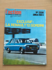 L'ACTION AUTOMOBILE N°119 07/1970 RENAULT 12 GORDINI     E98