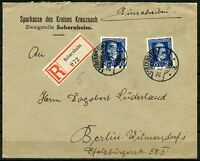 GERMANY SOBERHEIM REGISTERED COVER 20.1.26  TO BERLIN GERMANY