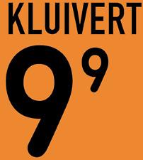 Holland Kluivert local 2000 Camisa Fútbol Fútbol De Impresión De Calor Número Letra H