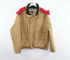 Vintage 90s Polo Sport Ralph Lauren Mens Medium Spell Out Hooded Utility Jacket